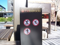 The Barracks - Not Permitted Signage