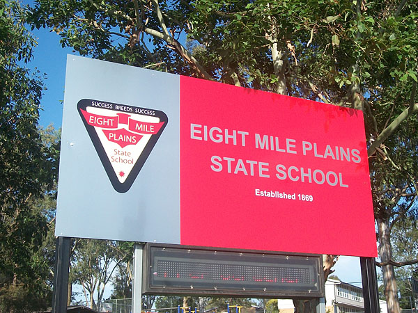 Eight Mile Plains State School Front Sign