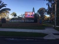 Ormiston College  Front Signage
