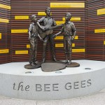 Bee Gees Way - Statue on cement plinth